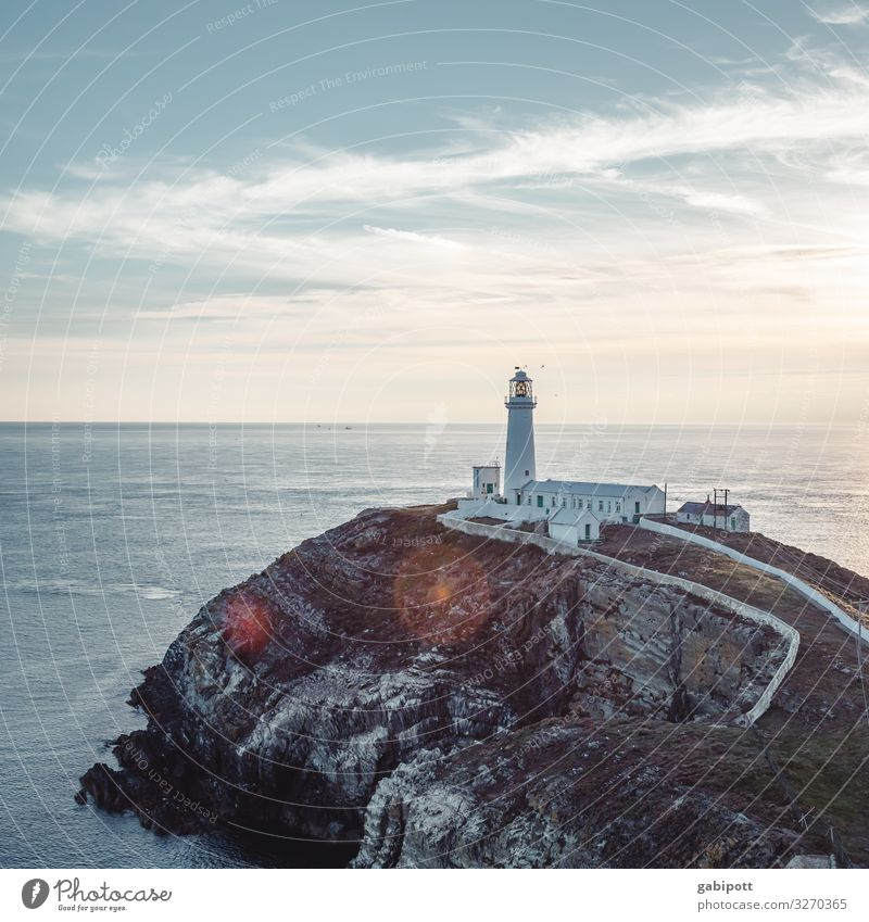 South Stack Lighthouse Vacation & Travel Tourism Trip Adventure Far-off places Freedom Summer Summer vacation Beach Ocean Island Navigation Illuminate Wild