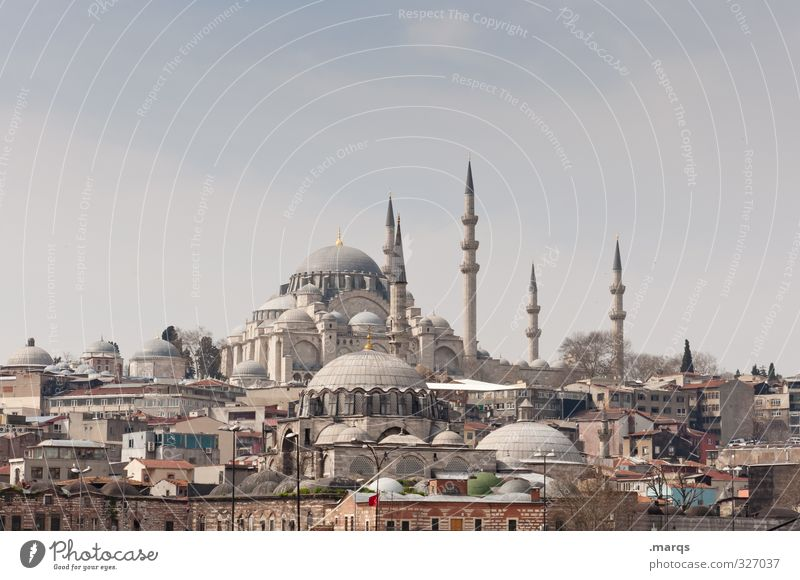 Süleymaniye Vacation & Travel Sightseeing City trip Culture Sky Beautiful weather Istanbul Turkey Downtown House (Residential Structure) Minaret