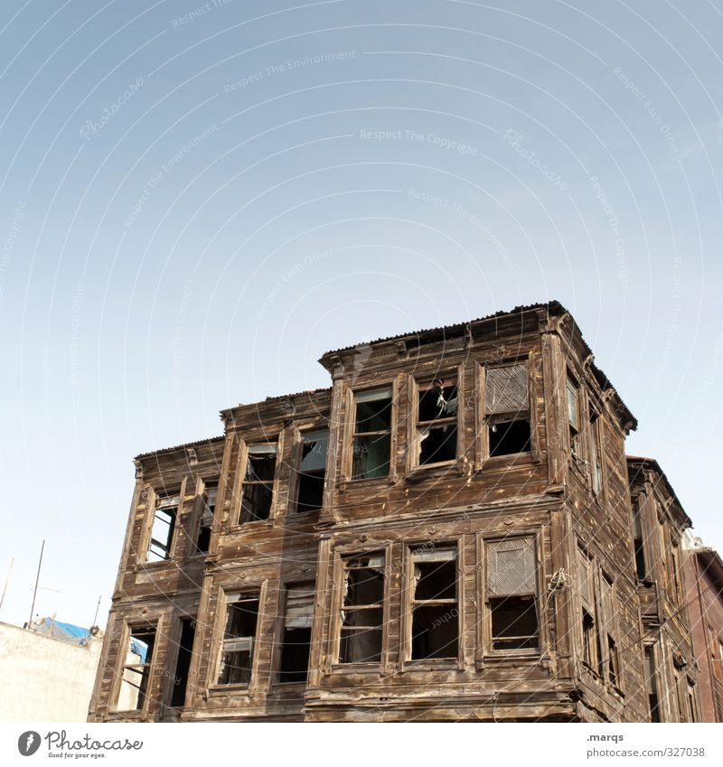 Old House (Residential Structure) Building Architecture Wood Facade Living or residing Lifestyle Beautiful weather Broken Transience Change Construction site