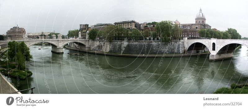 Sky City Water Tree Grass Building Wall (barrier) Watercraft Europe Italy Bridge River Castle Jetty Sculpture Dome