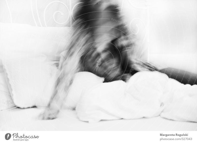Woman Adults Life Love Feminine Style Moody Design Modern Esthetic Sleep Bed Fatigue Cuddly Bedroom Wake up