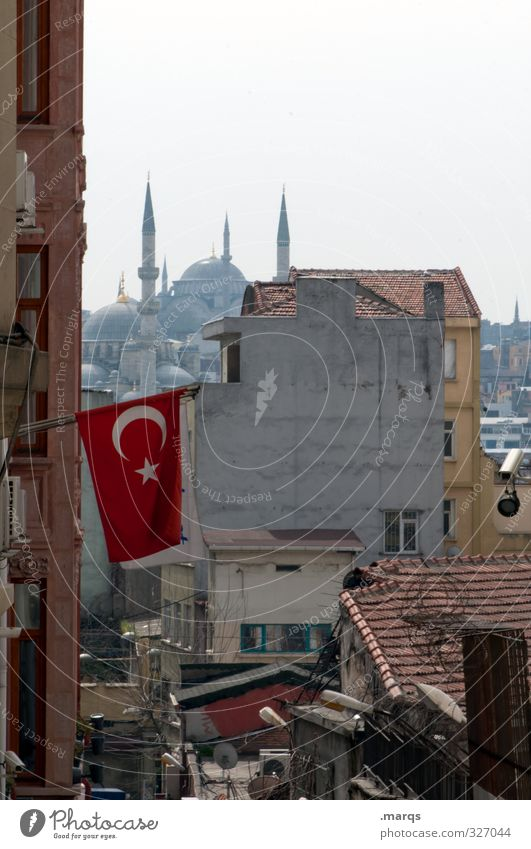 Sky Vacation & Travel City House (Residential Structure) Building Architecture Tourism Flag Downtown Alley Port City Turkey Istanbul Mosque Minaret