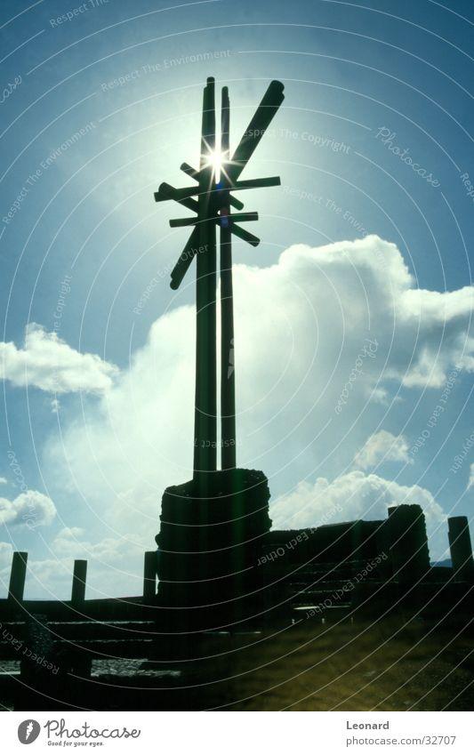 Sky Sun Clouds Religion and faith Back Craft (trade) Volcano
