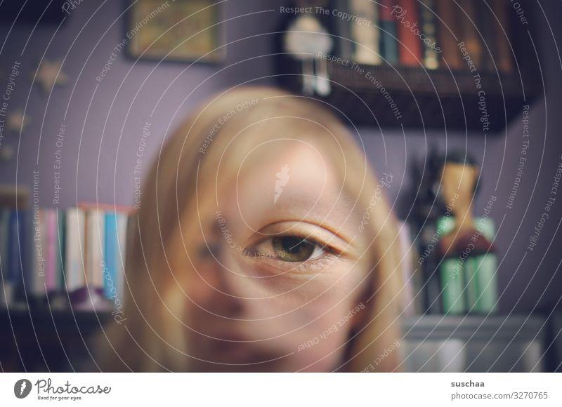 see better Eyes One-eyed Whimsical Distorted Illusion Enlarged Magnifying glass Joke Absurdity Joy Funny Strange Face Human being Surrealism
