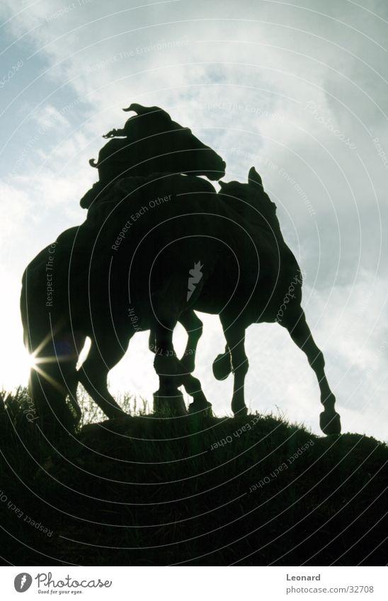 Sky Sun Clouds Bright Horse Statue Monument Craft (trade) Spain Sculpture