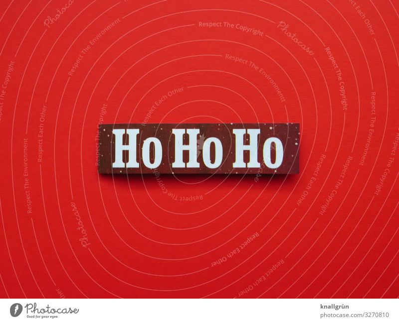 ho ho ho Characters Signs and labeling Communicate Red White Emotions Anticipation Curiosity Interest Expectation Joy Moody Christmas & Advent Colour photo