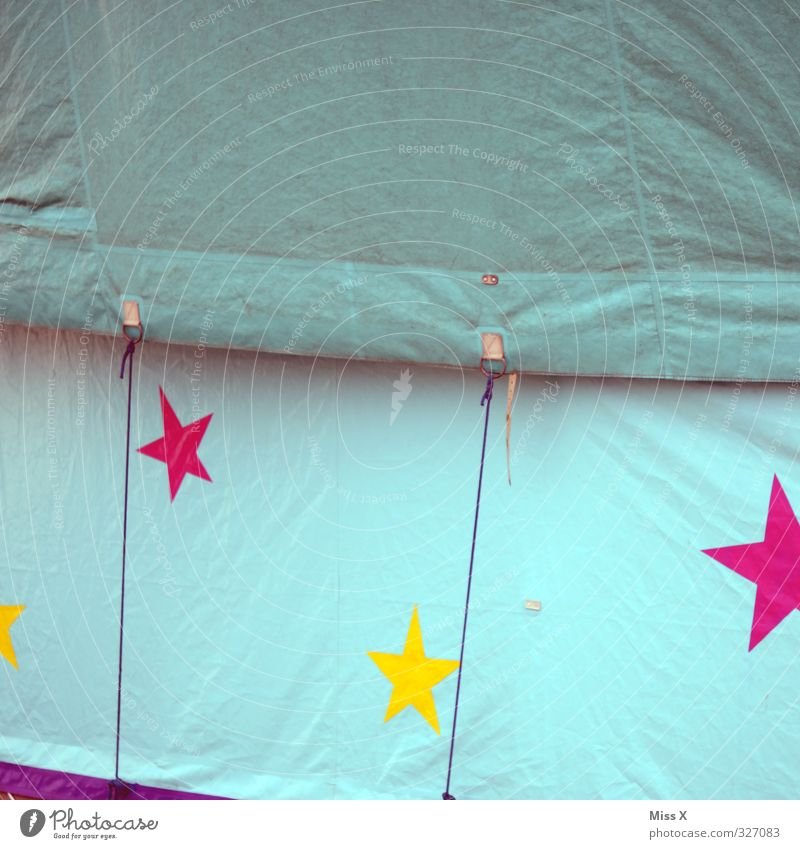 such a circus Fairs & Carnivals Sign Multicoloured Circus Circus tent Star (Symbol) Circus trailer Covers (Construction) Colour photo Exterior shot Detail