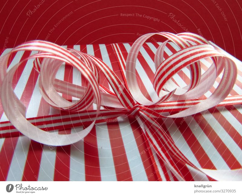 Christmas can come! Bow Christmas gift Gift wrapping Wait Curiosity Red White Emotions Moody Anticipation Interest Surprise Expectation Joy Mysterious Shopping