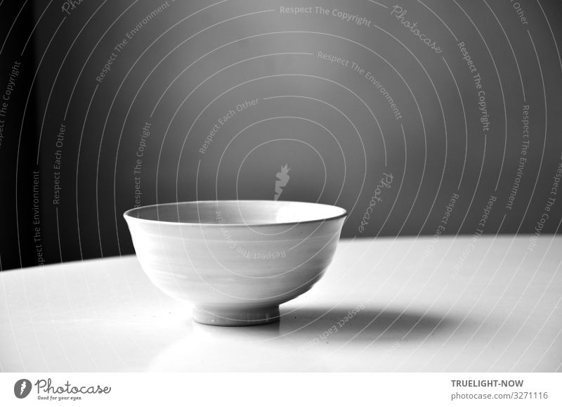 The silence and the emptiness Nutrition Beverage Crockery Bowl Lifestyle Elegant Style Design Wellness Harmonious Contentment Relaxation Calm Meditation