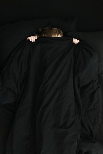 Child hiding under blanket Human being Masculine Hair and hairstyles Hand 1 8 - 13 years Infancy Black Fear Horror Hide Duvet overhead Colour photo