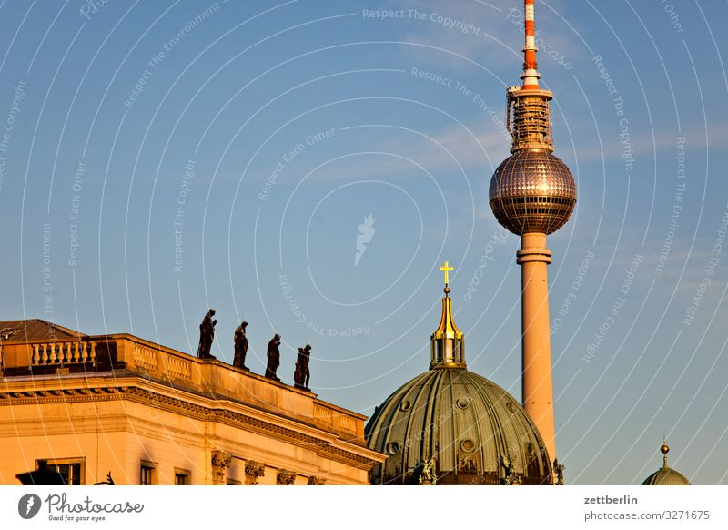DHM, cathedral and television tower Alexanderplatz Architecture Berlin City Berlin TV Tower Television tower Capital city Sky Heaven Downtown Deserted