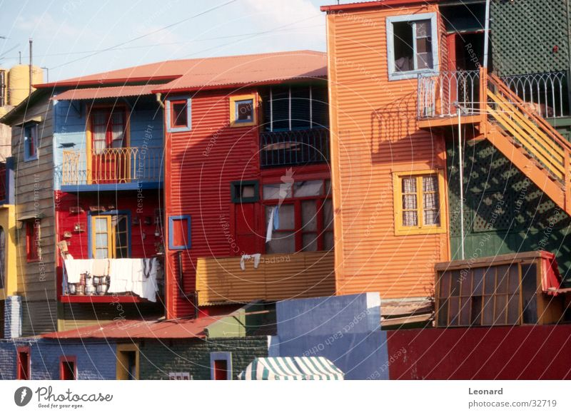 Colours in Barrio Boca, Buenos Aires House (Residential Structure) Peoples Ethnology Manmade structures Housefront Architecture national Stairs latin america