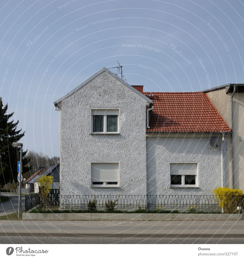 Old House (Residential Structure) Window Wall (building) Street Architecture Wall (barrier) Gray Building Garden Facade Perspective Gloomy Roof