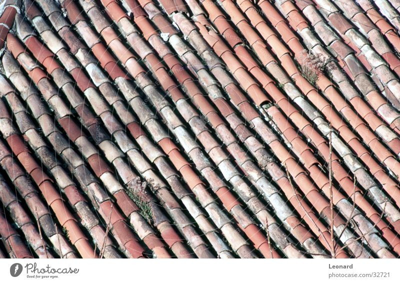 tiled roof House (Residential Structure) Brick Building Architecture people Blanket Old