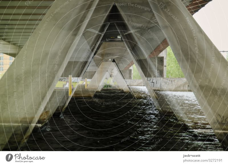 Review Berlin Exceptional Bridge Concrete River Havel Bridge pier