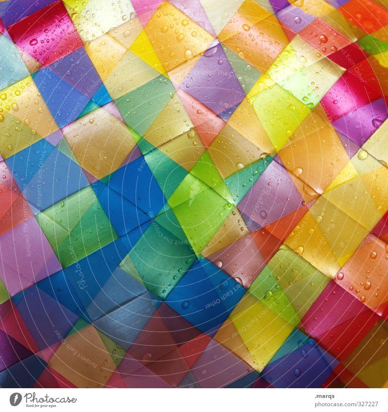 wet Style Design Plastic Line Tile Cool (slang) Hip & trendy Modern Wet Beautiful Multicoloured Colour Perspective Versatile Double exposure Colour photo