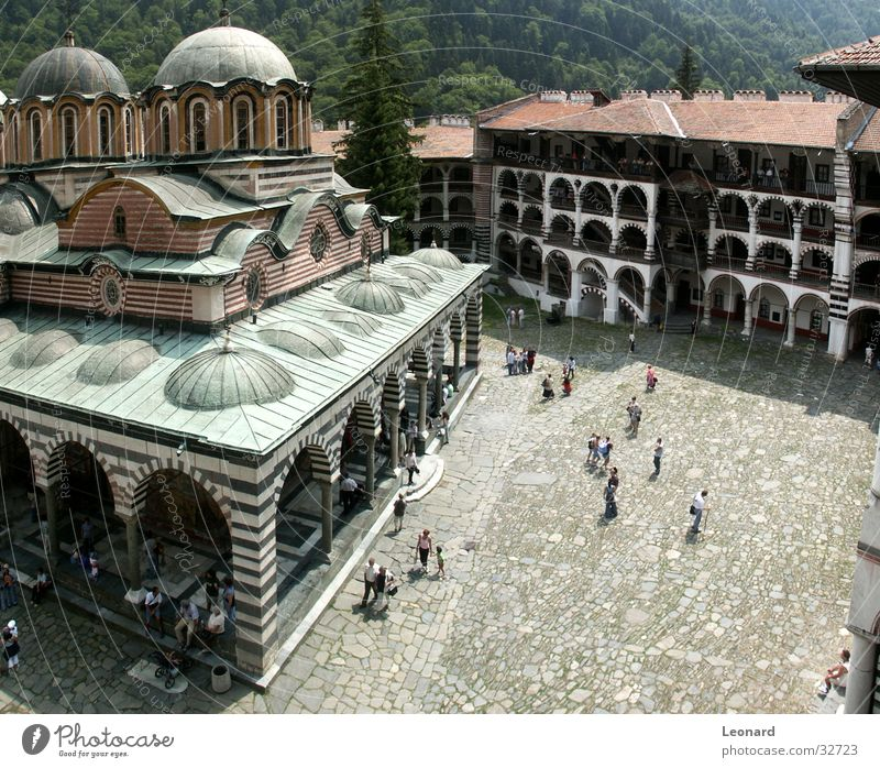 Rila Monastery, Bulgaria Religion and faith Manmade structures Culture Art Human being Tourist House of worship bulgaria church temple monastic monk cloister