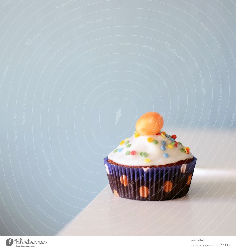 PARTY ALARM Food Cake Dessert Candy Nutrition Eating To have a coffee Muffin Delicious Sweet Blue Tartlet Cavities Childrens birthsday Colour photo