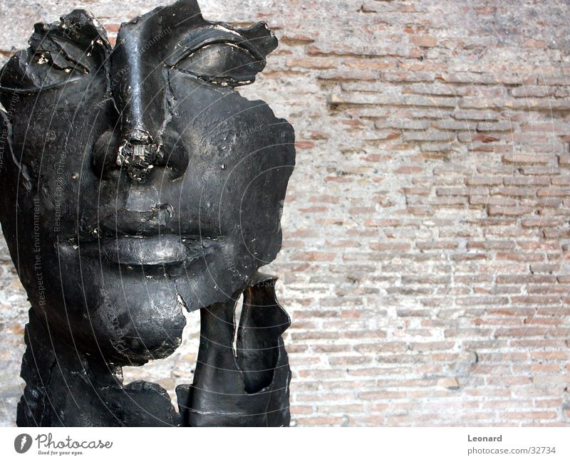Human being Man Face Stone Building Art Statue Craft (trade) Historic Sculpture Rome Exhibition Italy