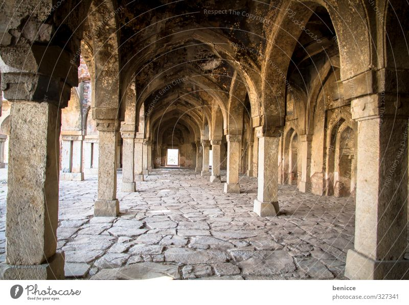 temple pillars Monument Ruin Column Church India Delhi Travel photography Manmade structures House (Residential Structure) Past Calm Deserted Uninhabited Old