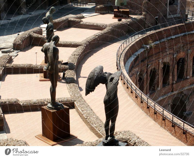 Man Face Stone Building Art Historic Statue Craft (trade) Sculpture Rome Exhibition Sculpture Death's head