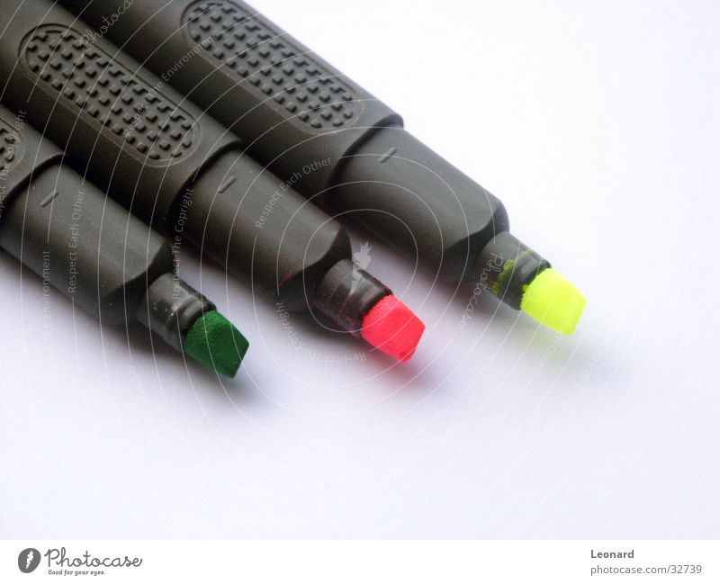 Green Colour Yellow Pink Signs and labeling Writer Felt-tipped pen
