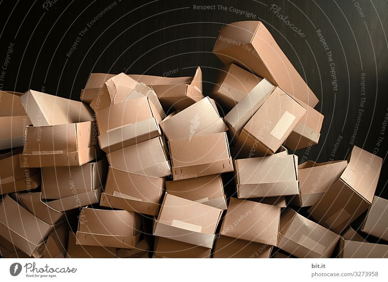 Stacks with cartons Living or residing Moving (to change residence) Work and employment Profession Trade Logistics Art Work of art Paper Packaging Package Box