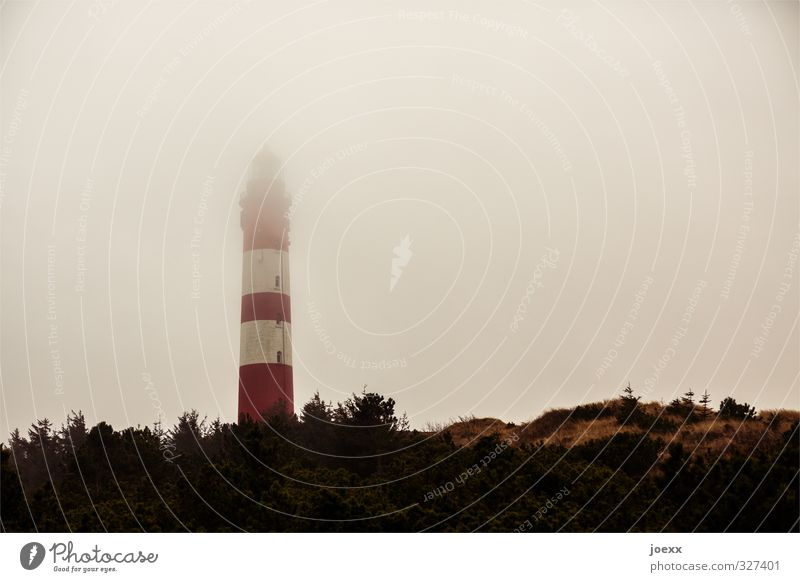 Sky Old White Red Building Brown Fear Weather Fog Tourism Tall Island Hope Creepy Lighthouse Bad weather