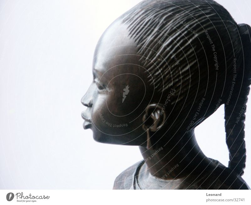 Ebony image 3 Art Wood Sculpture Woman Girl Face Human being Africa Statue Wood flour Craft (trade) girs black