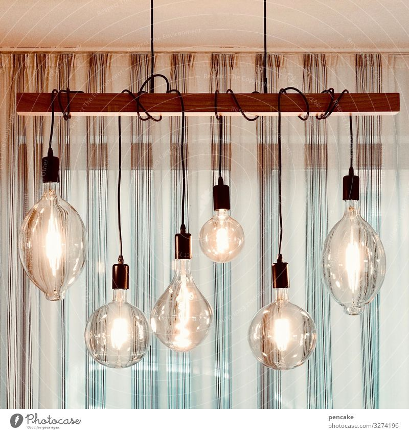 ornamental pears Cable Energy industry Glass Bright Electric bulb Lamp Lamplight Ceiling light Hanging lamp LED Window Drape Modern Vintage Retro Edison