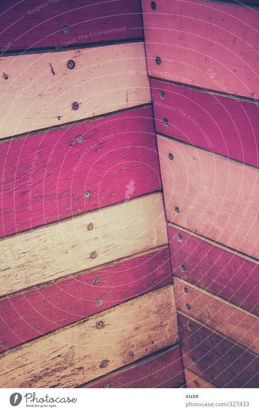 Wall (building) Wall (barrier) Wood Background picture Pink Facade Lifestyle Design Decoration Corner Stripe Wooden board Trashy Wooden wall