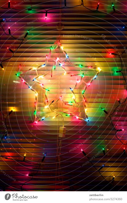 poinsettia Christmas & Advent Lighting Decoration Window Closed Illumination Venetian blinds Party Fairy lights Party night Roller blind Anti-Christmas