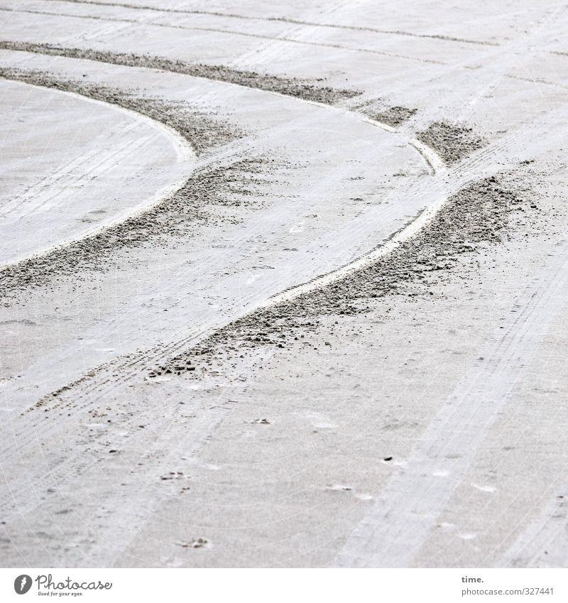 Rømø | Lifelines #67 Sand Coast Beach North Sea Island Transport Motoring Lanes & trails Skid marks Curve Tilt Cross Round Stress Nerviness Design Resolve