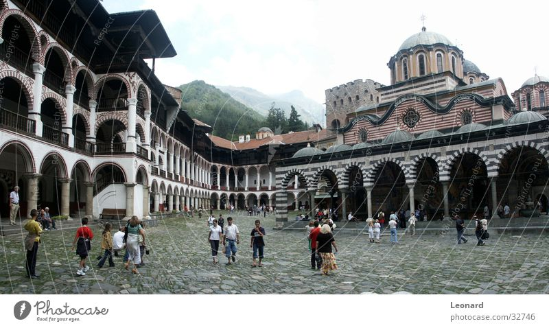 Rila Monastery 2 Religion and faith Manmade structures Culture Art Europe Tourist Human being Panorama (View) Orthodoxy House of worship bulgaria church