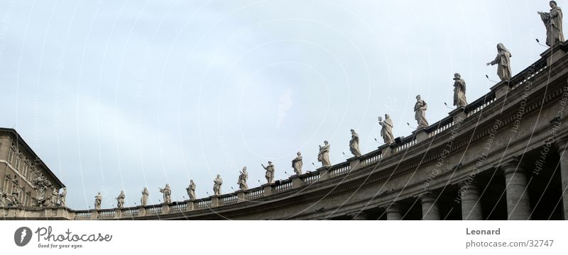 Religion and faith Large Europe Italy Statue Sculpture Holy Handrail Column Rome Panorama (Format) House of worship Dominican Republic Colonnades