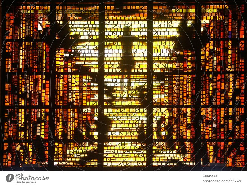 Yellow Colour Window Religion and faith Glass Craft (trade) Crystal structure Cathedral