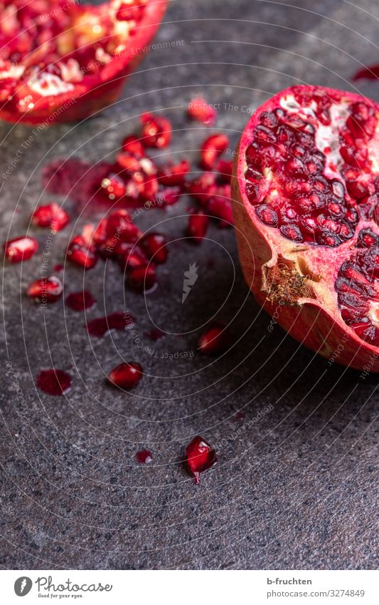 pomegranate Food Fruit Nutrition Organic produce Vegetarian diet Healthy Eating Kitchen Work and employment To enjoy Esthetic Exotic Fresh Red