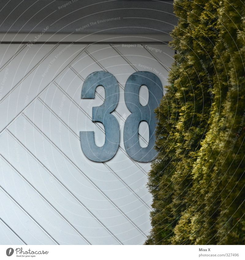 38 30 - 45 years Adults Wall (barrier) Wall (building) Digits and numbers House number Colour photo Exterior shot Deserted Copy Space left Copy Space bottom