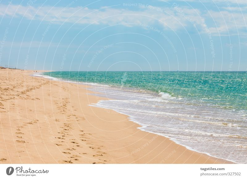 Nature Vacation & Travel Water Ocean Landscape Calm Relaxation Beach Freedom Coast Sand Travel photography Leisure and hobbies Idyll Tourism Bay