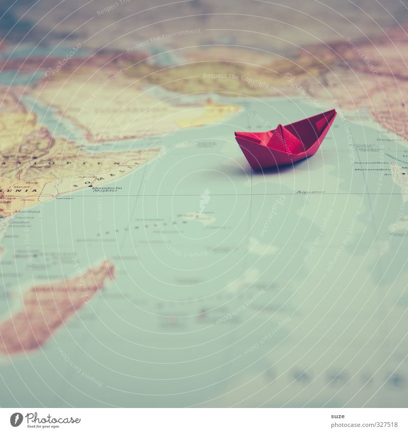 Vacation & Travel Ocean Red Playing Travel photography Small Watercraft Earth Leisure and hobbies Lifestyle Cute Paper Creativity Idea Symbols and metaphors