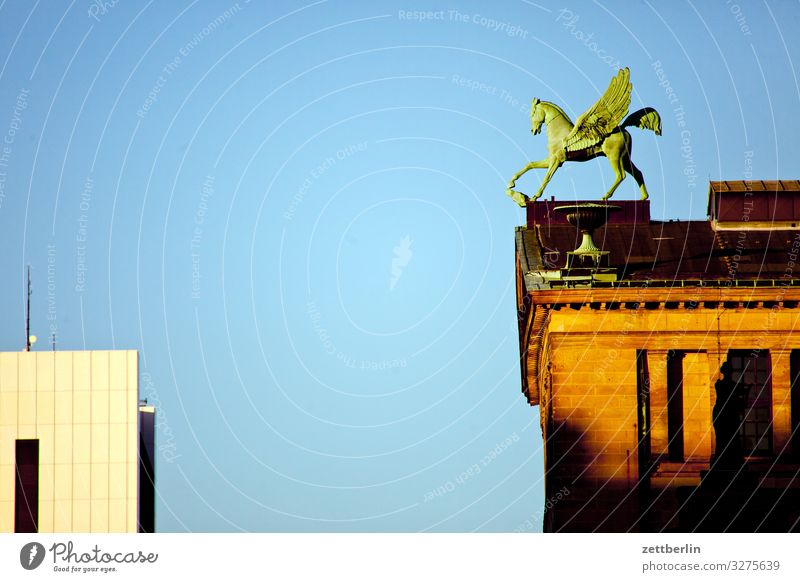 Pegasus at the concert hall Architecture Berlin Office City Germany Gendarmenmarkt Capital city House (Residential Structure) Sky Heaven Downtown