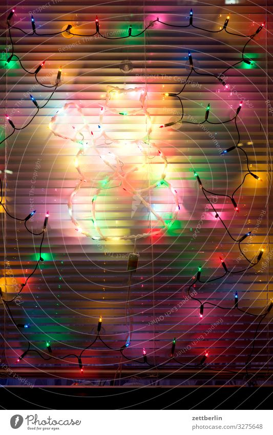 light chain Christmas & Advent Lighting Decoration Window Closed Illumination Venetian blinds Party Fairy lights Party night Roller blind Anti-Christmas