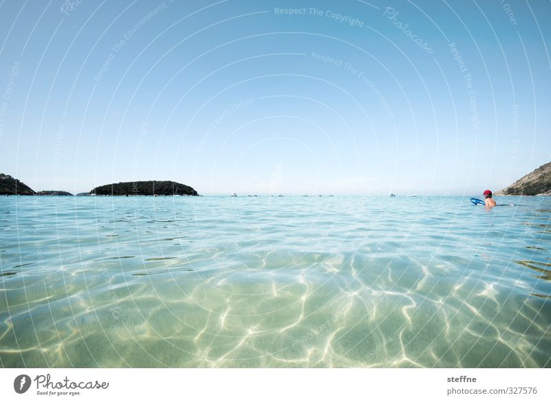 escapism Nature Water Cloudless sky Beautiful weather Coast Bay Ocean Indian Ocean Phuket Thailand Asia South East Asia Hot Beach Swimming & Bathing