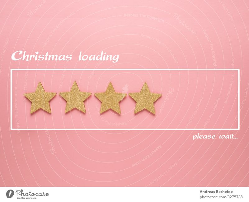 Christmas loading bar with golden star shapes Design Bar Cocktail bar Feasts & Celebrations Christmas & Advent Decoration Sign Gold Pink Tradition Starling