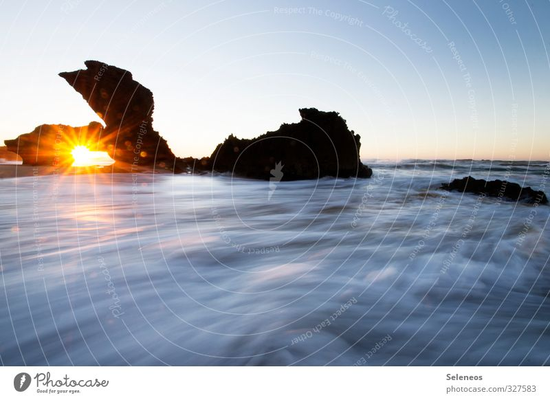Sky Nature Water Sun Ocean Loneliness Landscape Calm Beach Environment Coast Stone Natural Rock Horizon Waves