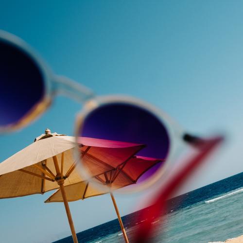 Hello Summer Sunglasses Vacation & Travel Ocean Vacation mood Sunshade Waves Beach Warmth Multicoloured Looking Filter Summery Good mood Gaudy Retro