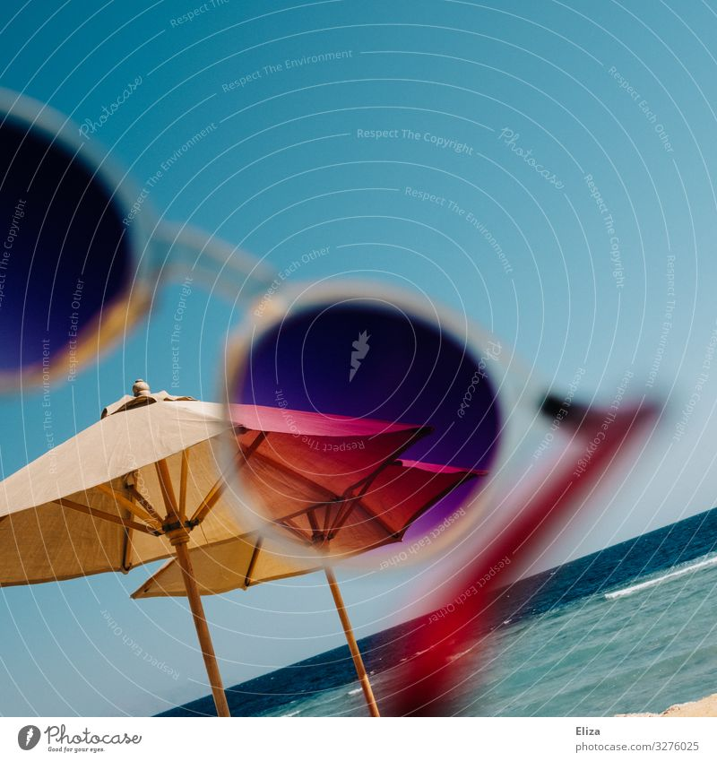 Vacation & Travel Summer Ocean Beach Warmth Waves Sunglasses Sunshade Summery Filter Vacation mood