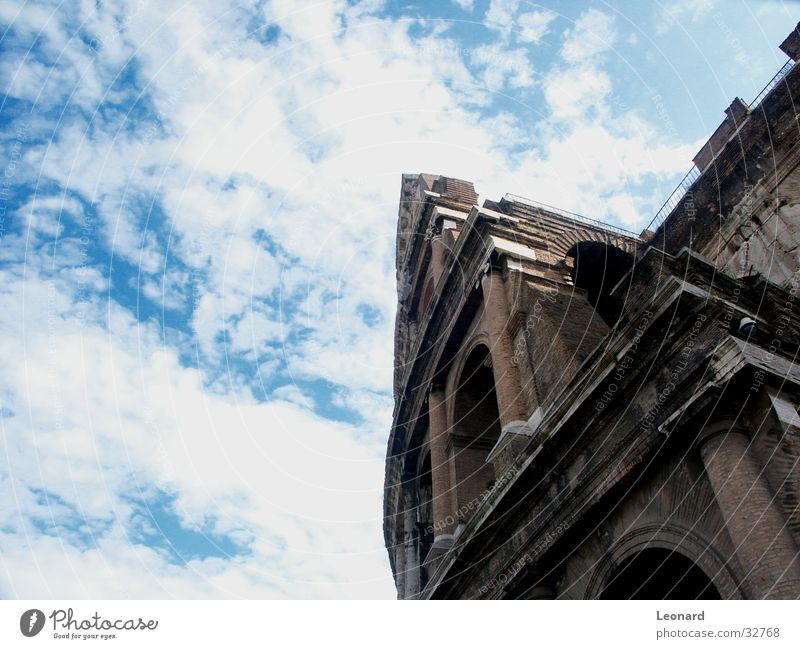 Colosseum Building Clouds Italy Sky Rome Historic Column Stone cloud perspective Monument