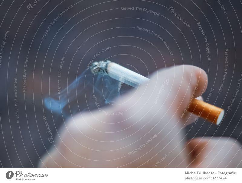 Blue Hand Black Healthy Yellow Health care Orange Fingers Near Illness Smoke Smoking Willpower Cigarette Addiction Unhealthy
