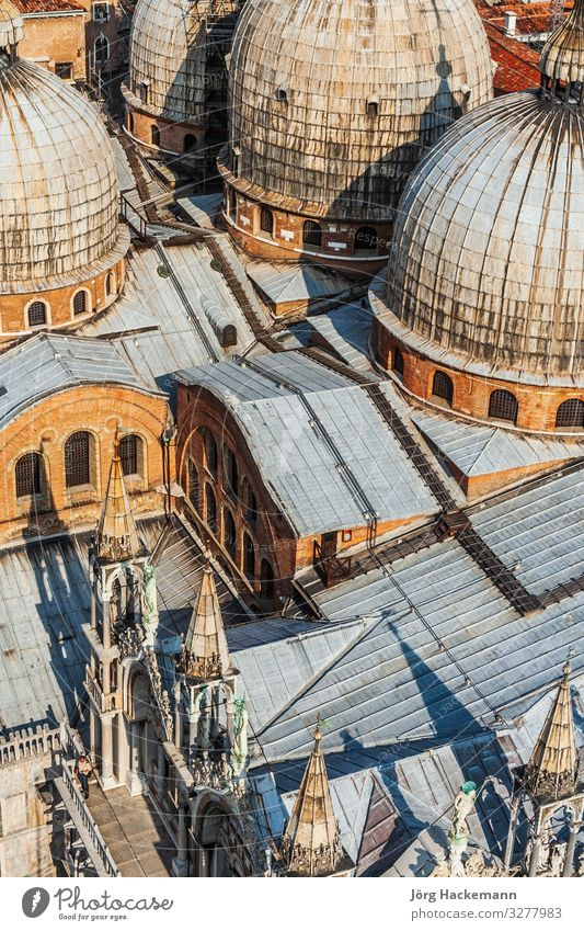 overlooking marcus church in venice from campanile de San Marco Church Building Landmark Historic Religion and faith Basilica Basilica of Saint Mark